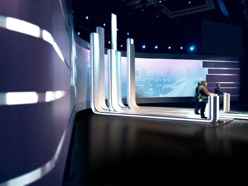 2010 – ATV Wien Wahl – Studiomöbel © Peter Mitterer Architekten
