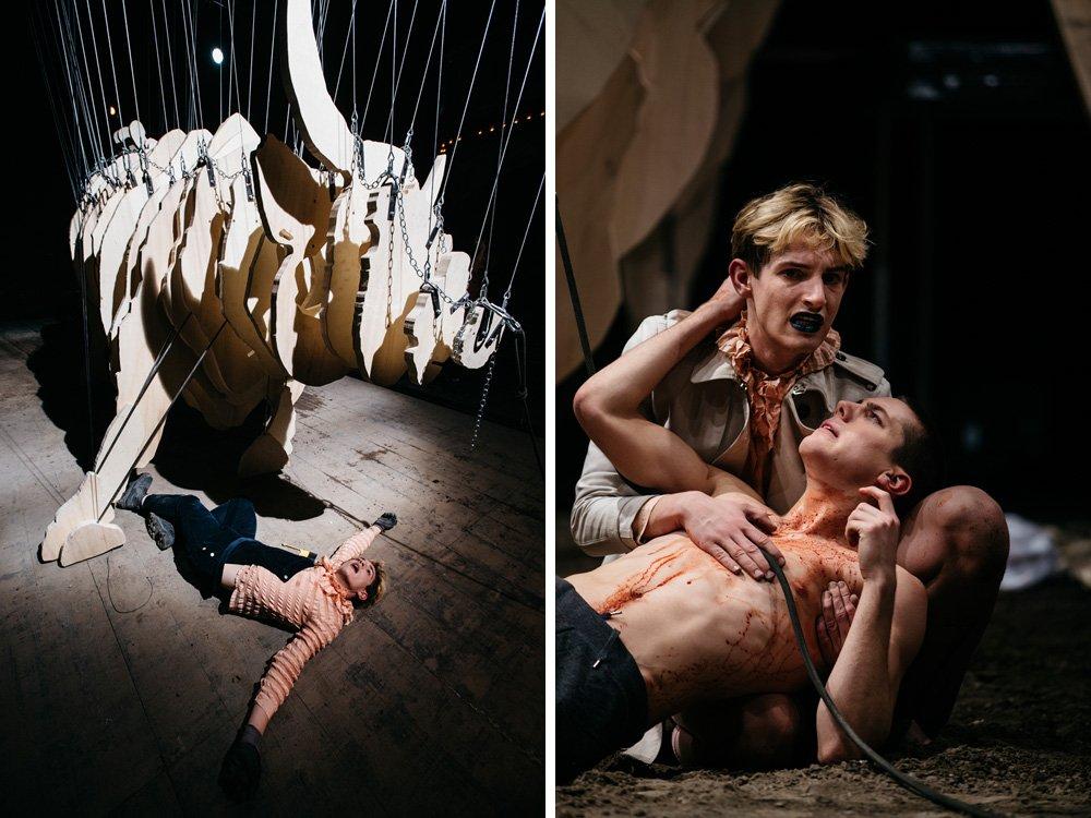 2016 – Kudlich - eine anachronistische Puppenschlacht – Schauspielhaus Wien © Matthias Heschl